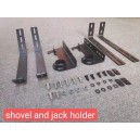 set 2 suporti pentru lopata sau cric pentru roofrack plat