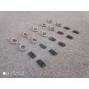 set 10 suruburi inox cu ochet pentru fixare obiecte pe portbagaj plat
